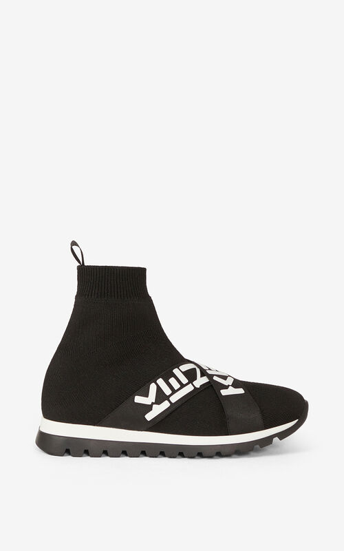 BLACK KENZO Sport Trainers for unisex
