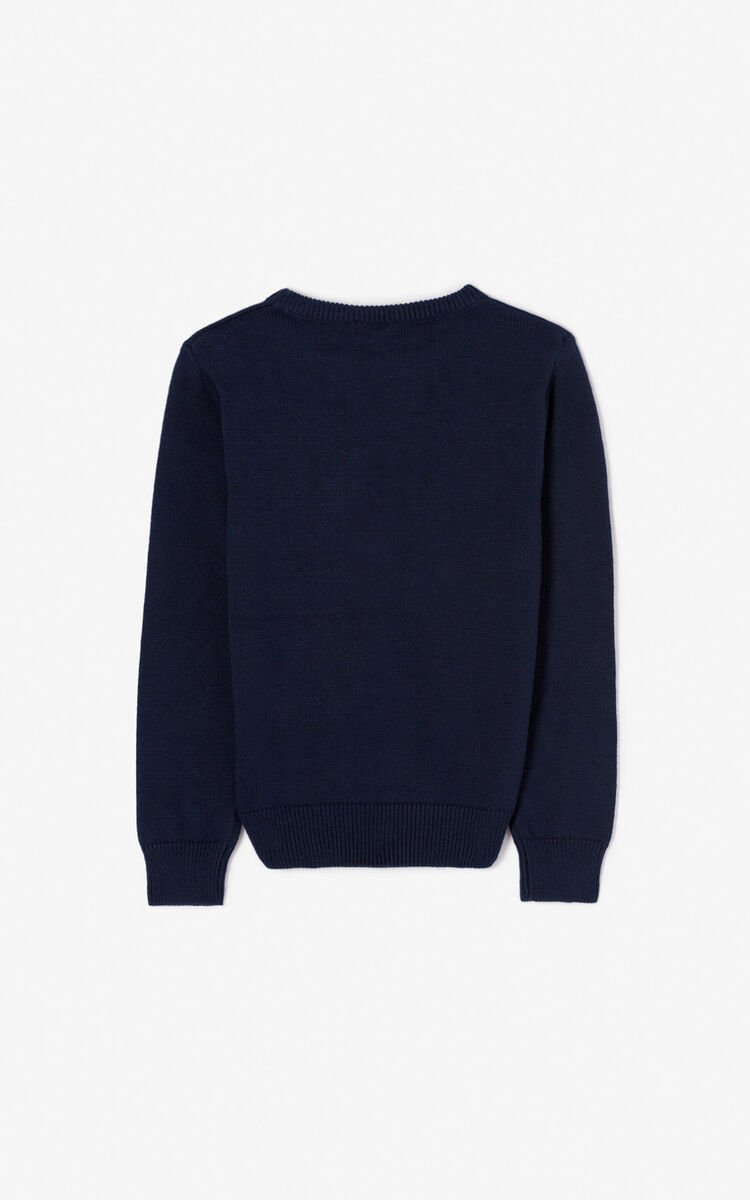 NAVY BLUE KENZO Paris jumper for women