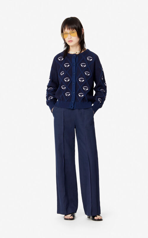 MIDNIGHT BLUE Eye cardigan for women KENZO