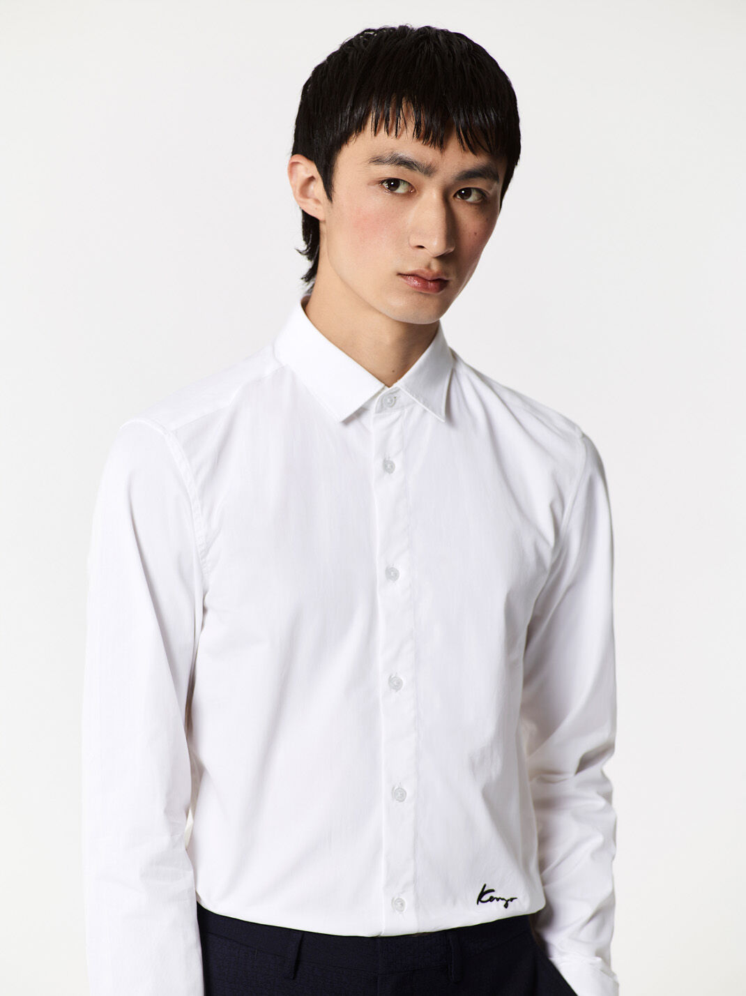 WHITE Classic Shirt Signed KENZO  for men