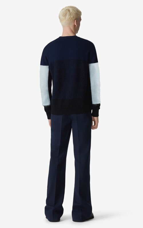 NAVY BLUE Flared trousers for men KENZO