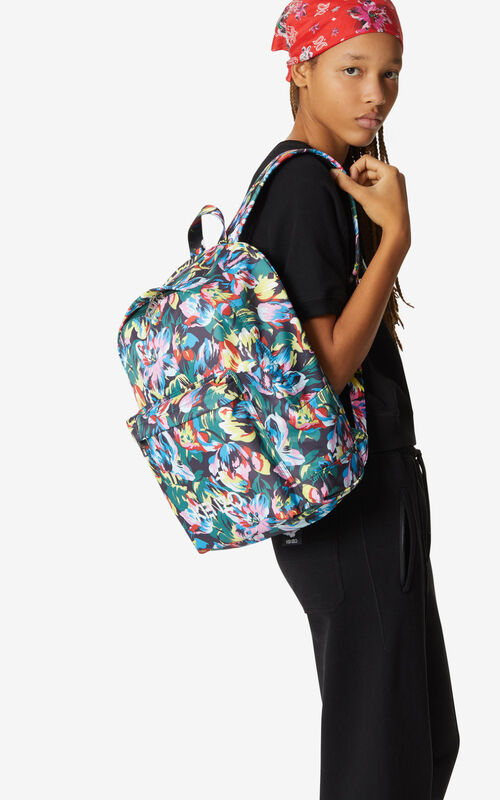BLACK 'Tulipes' backpack for women KENZO