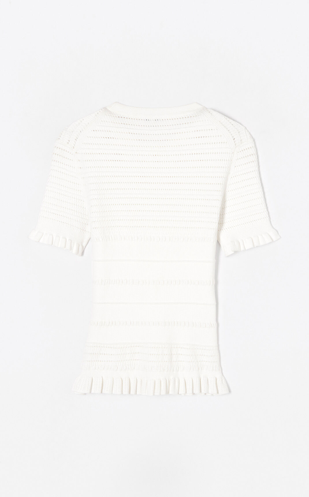 WHITE Trompe l'oeil jumper for women KENZO