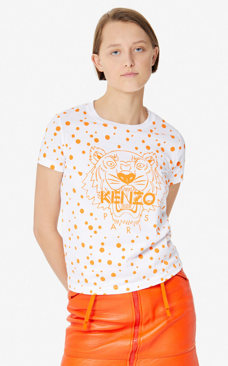 DEEP ORANGE 'Dots' Tiger T-shirt 'High Summer Capsule collection' for women KENZO