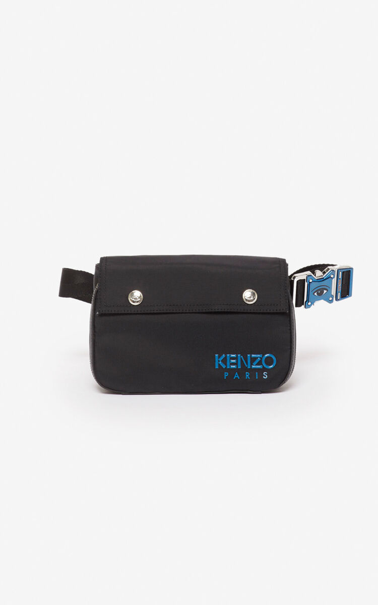 BLACK KENZO Paris crossbody bag for men