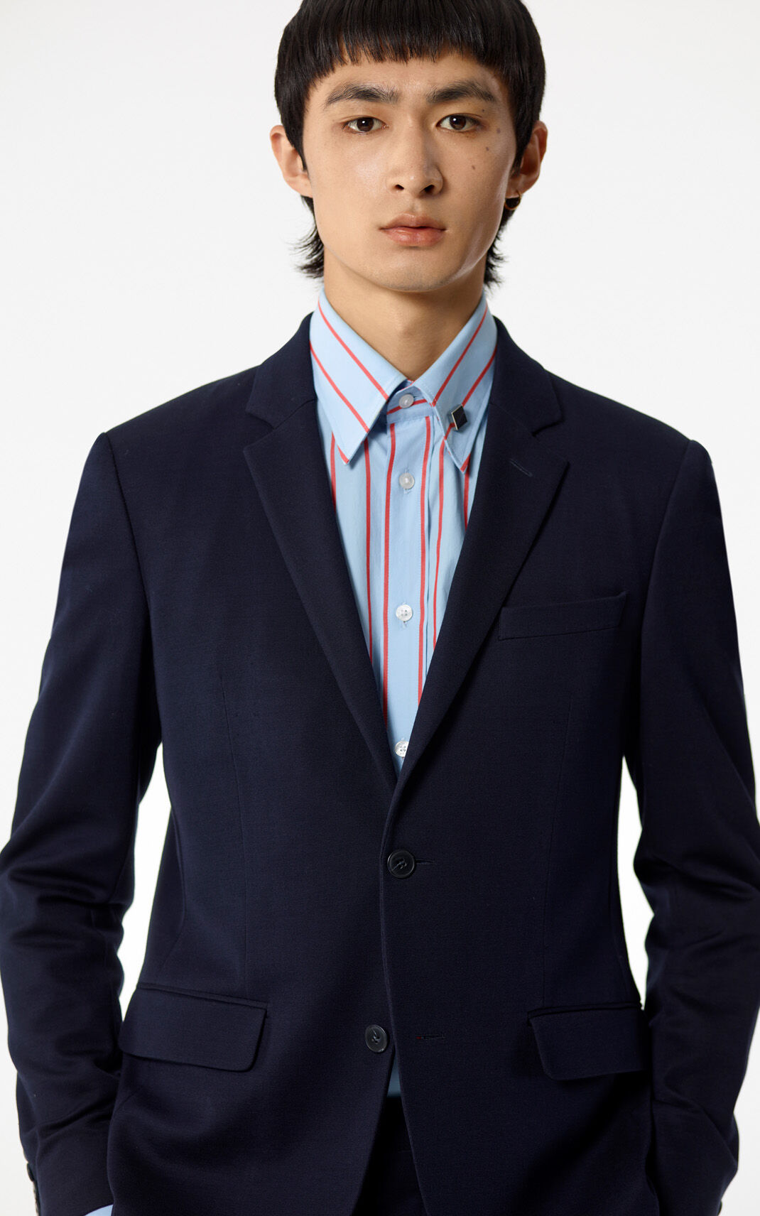 NAVY BLUE Jersey Jacket for men KENZO