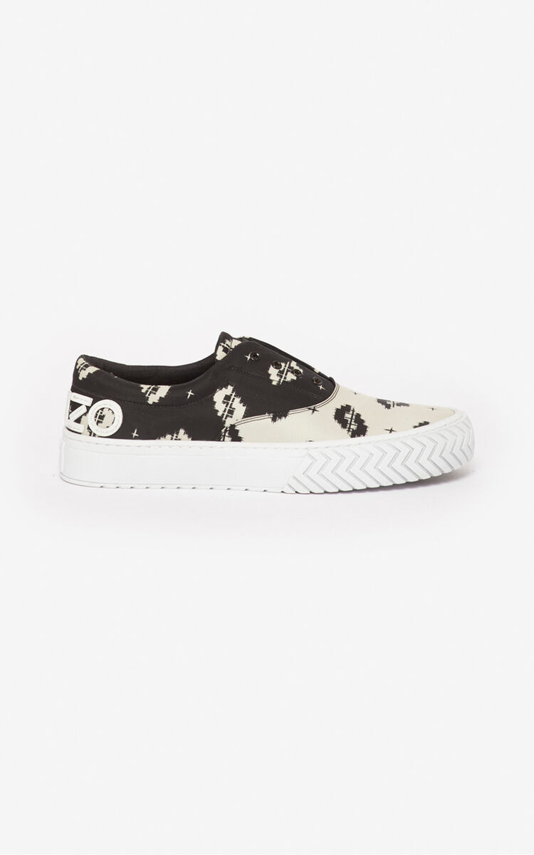 BLACK 'Ikat' K-Skate sneakers for unisex KENZO