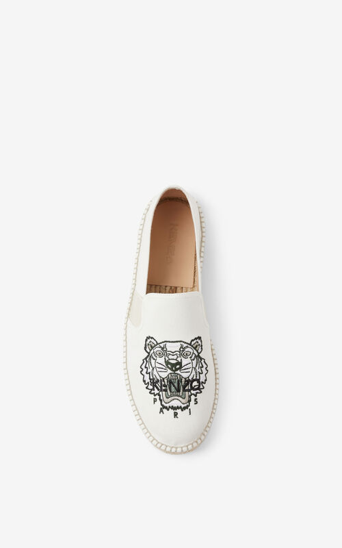 OFF WHITE Tiger elasticated espadrilles for unisex KENZO
