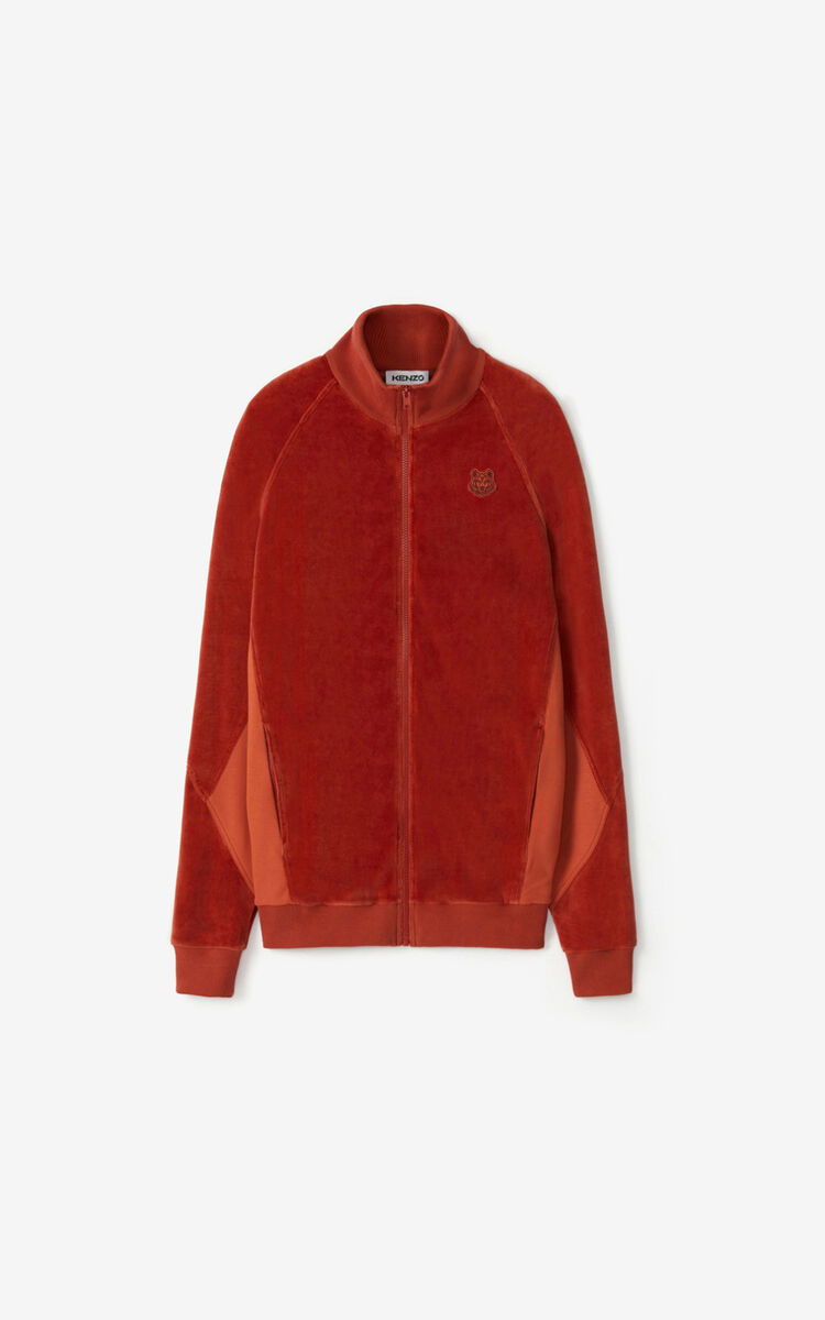 POPPY Oversized velvet track jacket for men KENZO