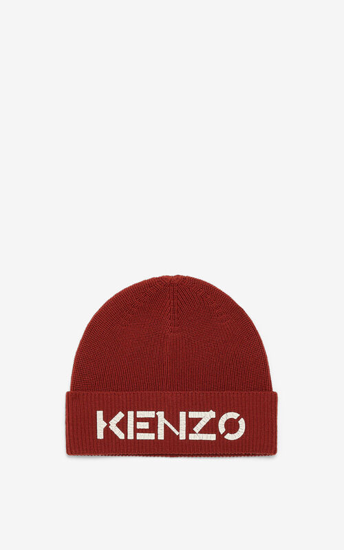 POPPY KENZO Logo knit cap for unisex