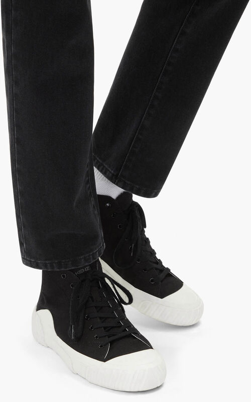 BLACK Tiger Crest high-top trainers   for women KENZO