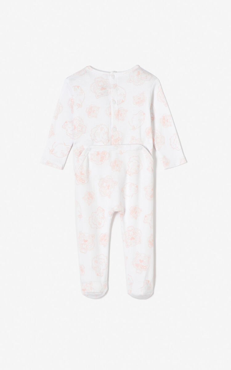 PASTEL PINK Set of 2 Tiger sleepsuits for men KENZO