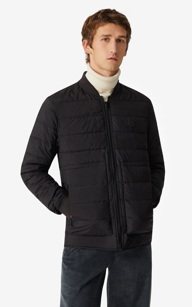BLACK Reversible puffer jacket for men KENZO