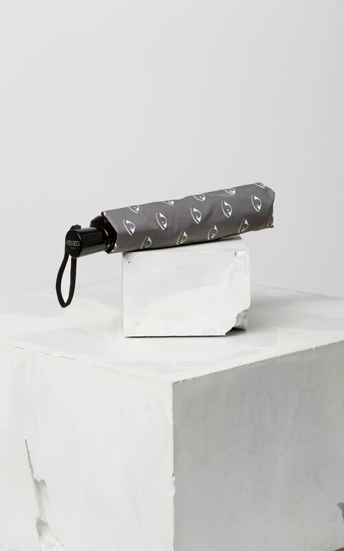 MIDDLE GREY All over Eyes Umbrella for unisex KENZO