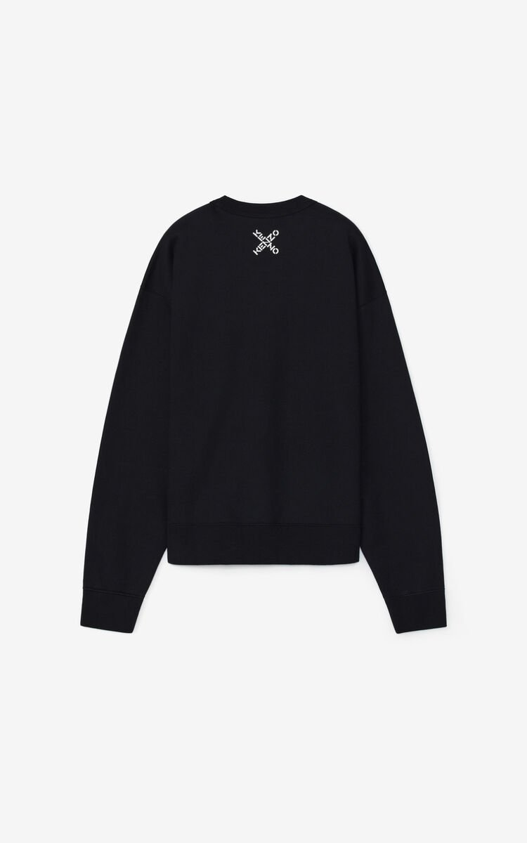 BLACK KENZO Sport 'Big X' sweatshirt for men