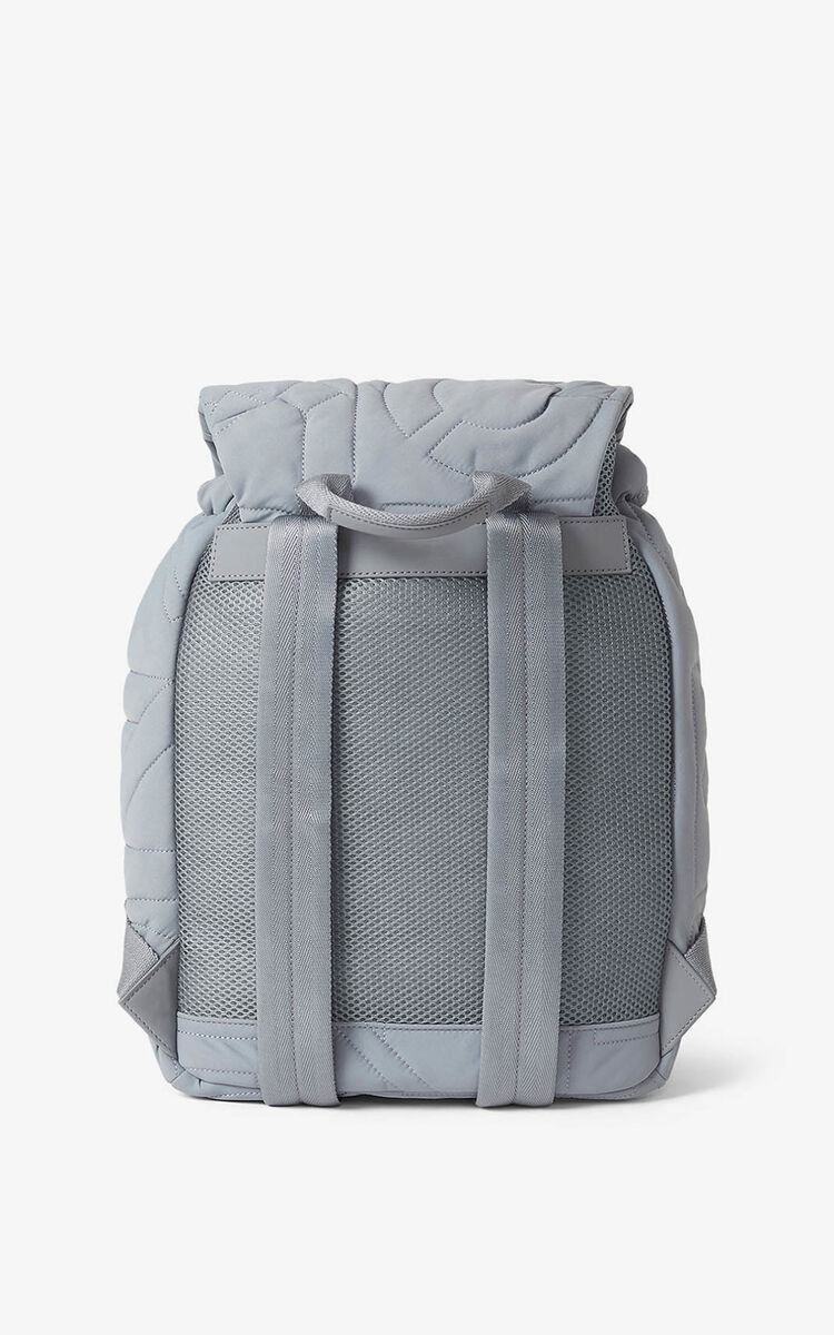 PEARL GREY Arctic nylon backpack for unisex KENZO