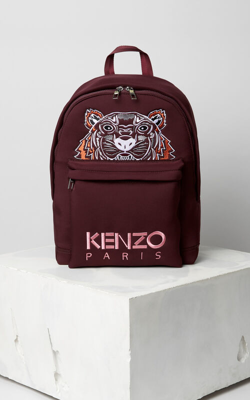 BORDEAUX Large Neoprene Tiger backpack for unisex KENZO
