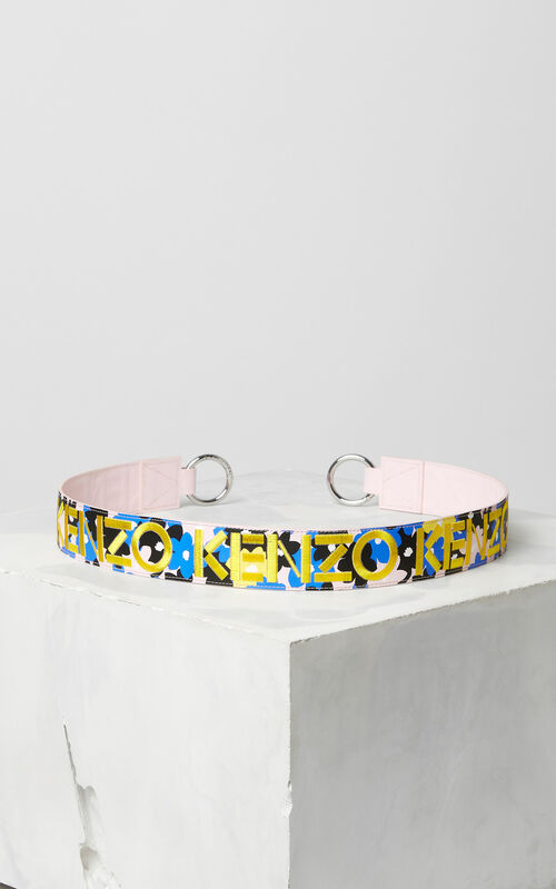 FRENCH BLUE 'Jackie Flowers' Strap for Mini Kalifornia for women KENZO