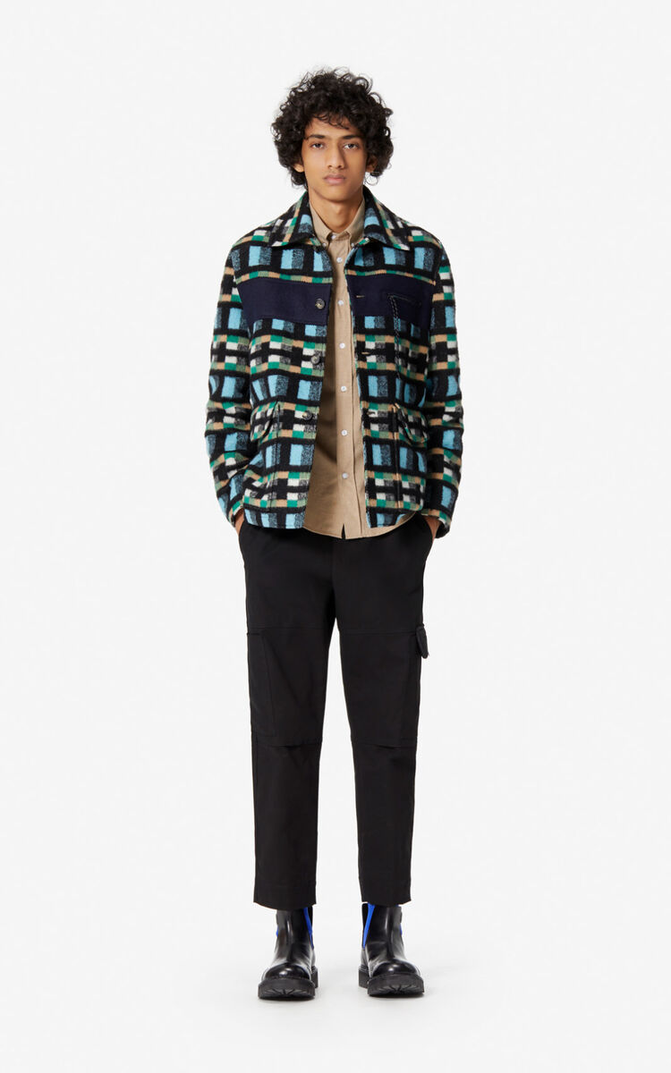 CYAN Checked Jacket for women KENZO