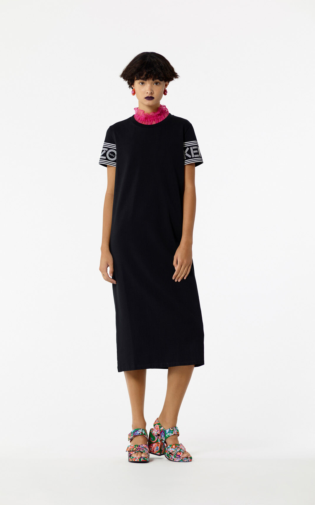 black kenzo dress