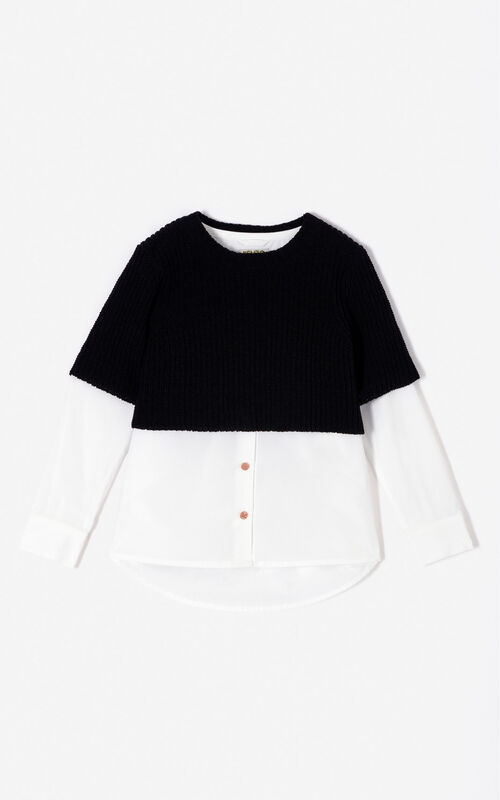 WHITE 'Cosmic' shirt jumper for women KENZO