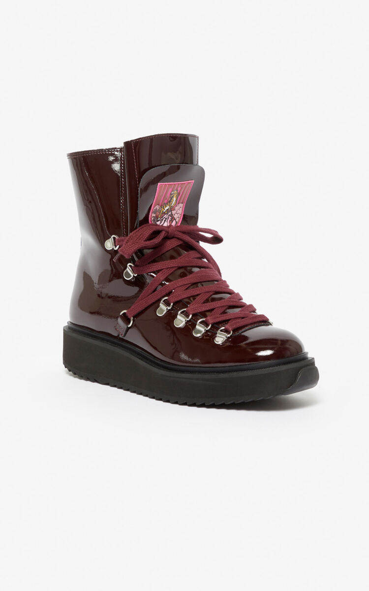 BORDEAUX 'Capsule Expedition' Alaska boots  for women KENZO