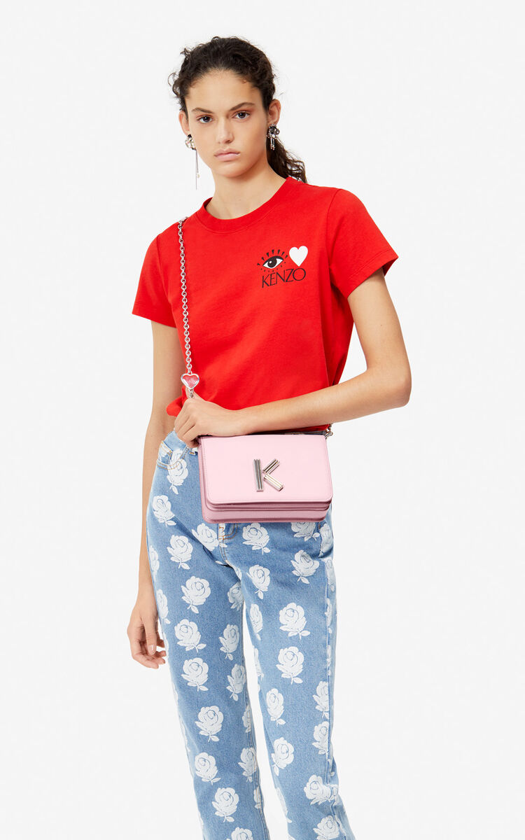 PASTEL PINK 'I ❤ KENZO Capsule' K-Bag Chainy bag for women