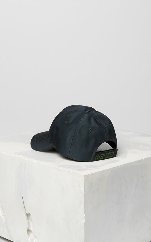 DARK GREY Tiger Canvas Cap for unisex KENZO