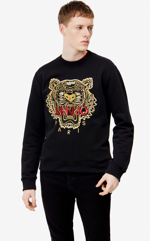 132eaab25 BLACK Tiger sweatshirt for men KENZO ...