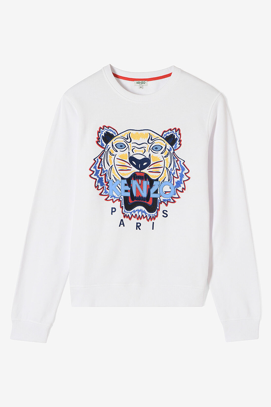 WHITE Tiger Sweatshirt for men KENZO