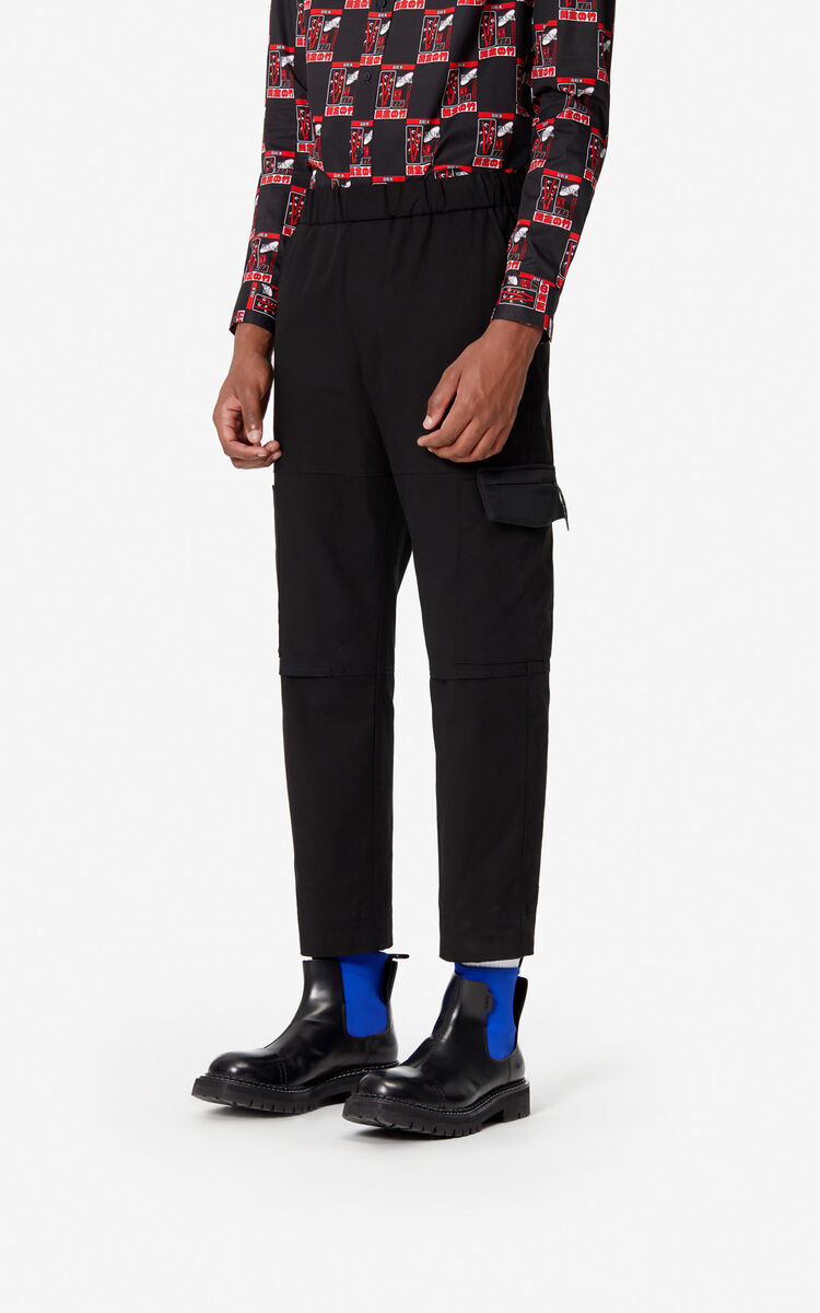 BLACK Cargo trousers for men KENZO
