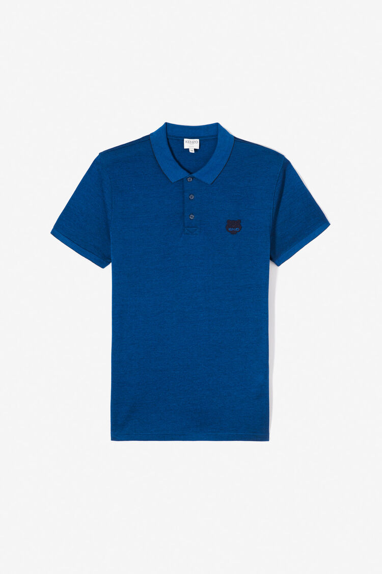 NAVY BLUE Tiger slim fit polo shirt for men KENZO