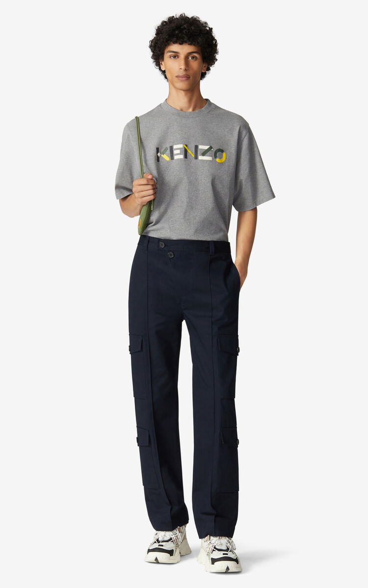BLUE BLACK Cargo trousers for men KENZO