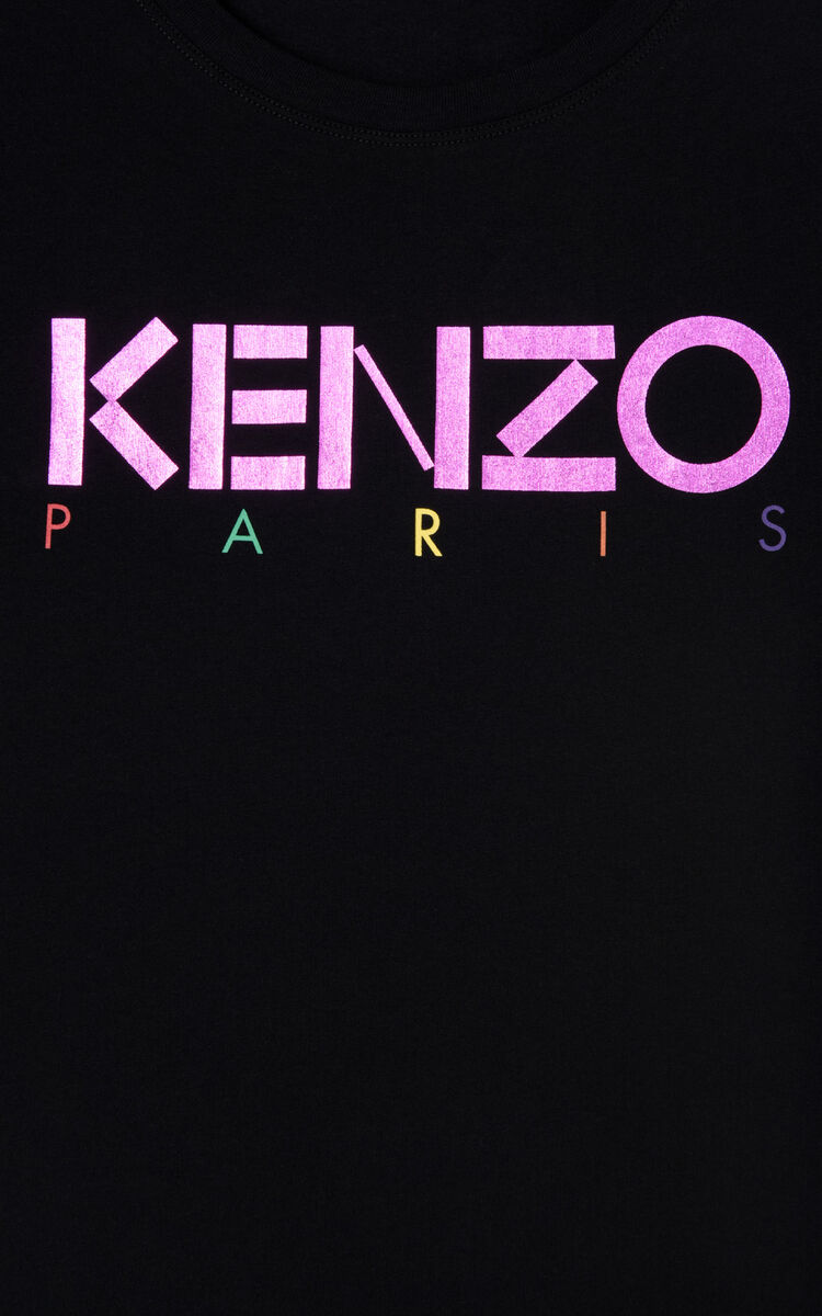 BLACK 'Holiday Capsule Collection' KENZO Paris T-shirt for women