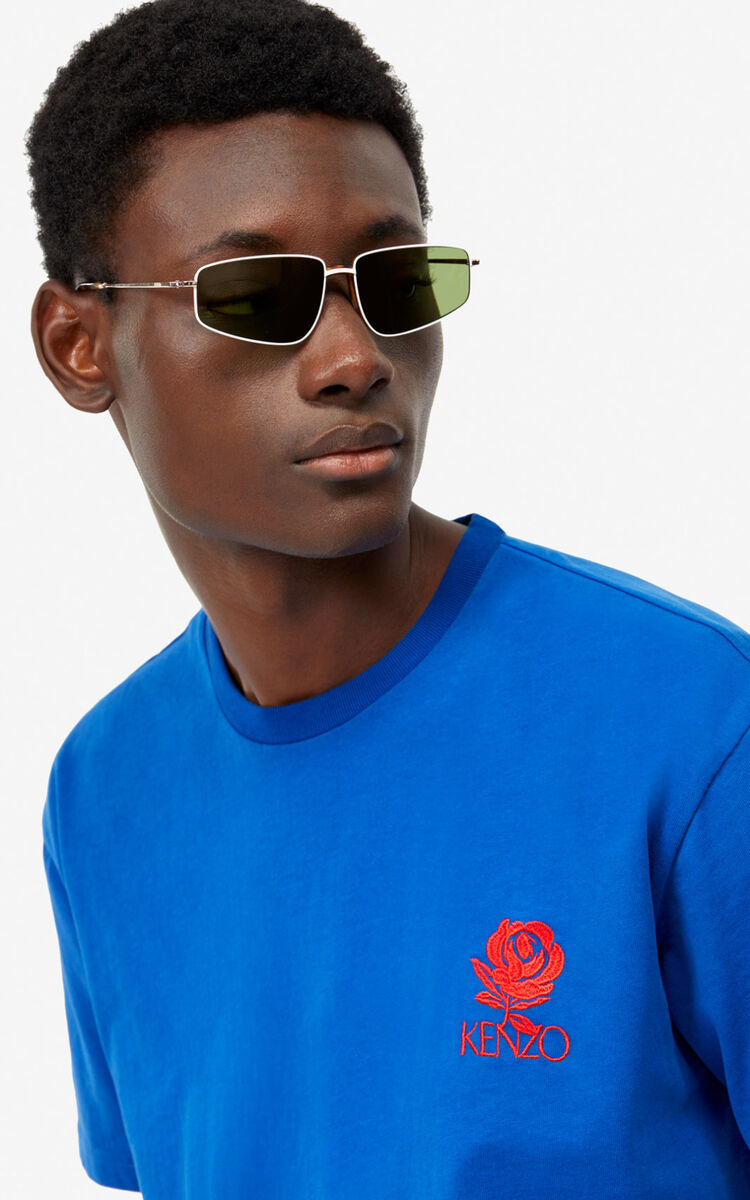 FRENCH BLUE 'Roses' T-shirt for men KENZO