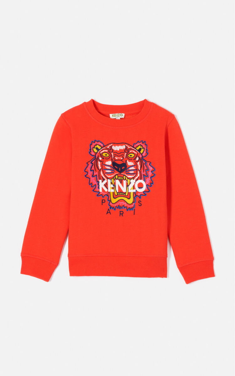 DEEP ORANGE Tiger sweatshirt  for women KENZO