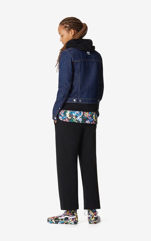 NAVY BLUE Raw denim jacket for women KENZO