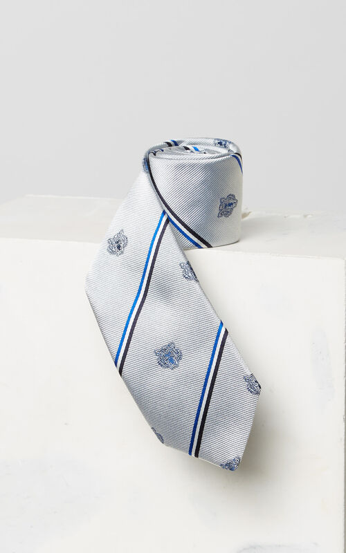PALE GREY Tiger tie for women KENZO