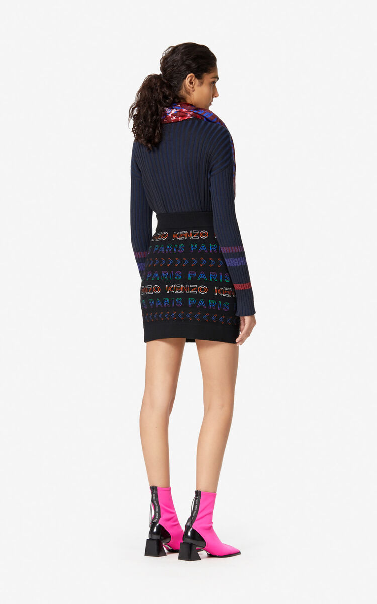 MULTICOLOR Woollen KENZO Paris skirt for women