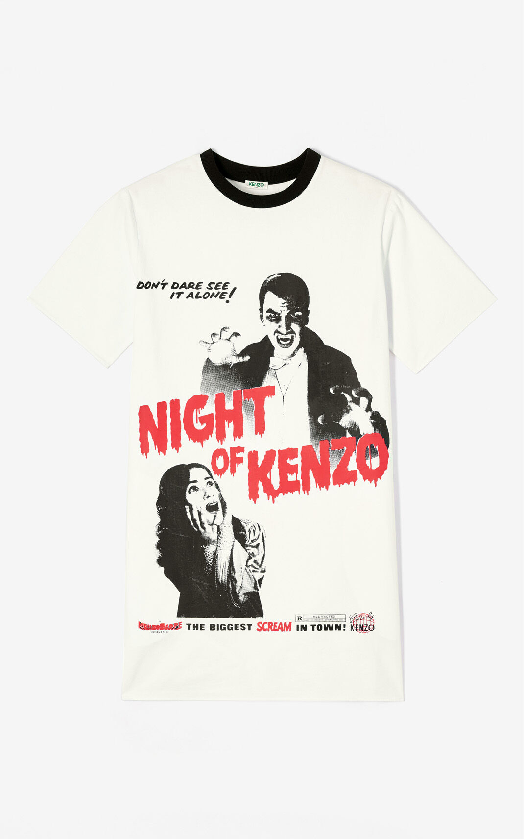 WHITE 'Night of Kenzo' t-shirt dress for women