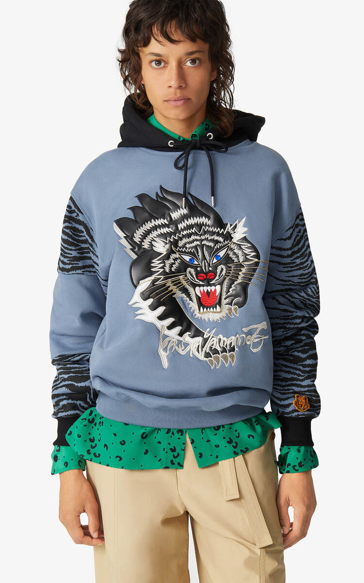 BLUE KENZO x KANSAIYAMAMOTO hooded sweatshirt for women