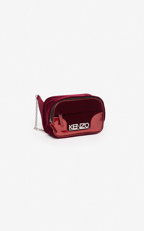 PEONY RED 24 Kyoto bumbag  'Holiday Capsule' for unisex KENZO