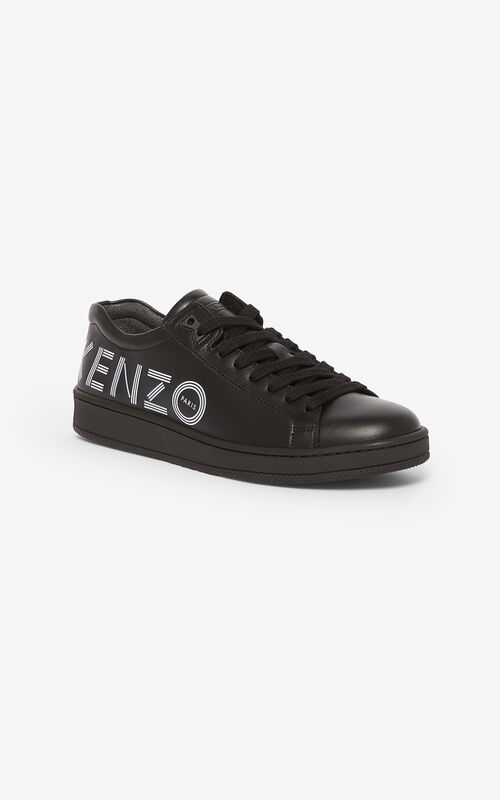 BLACK KENZO Logo Tennix sneakers  for unisex