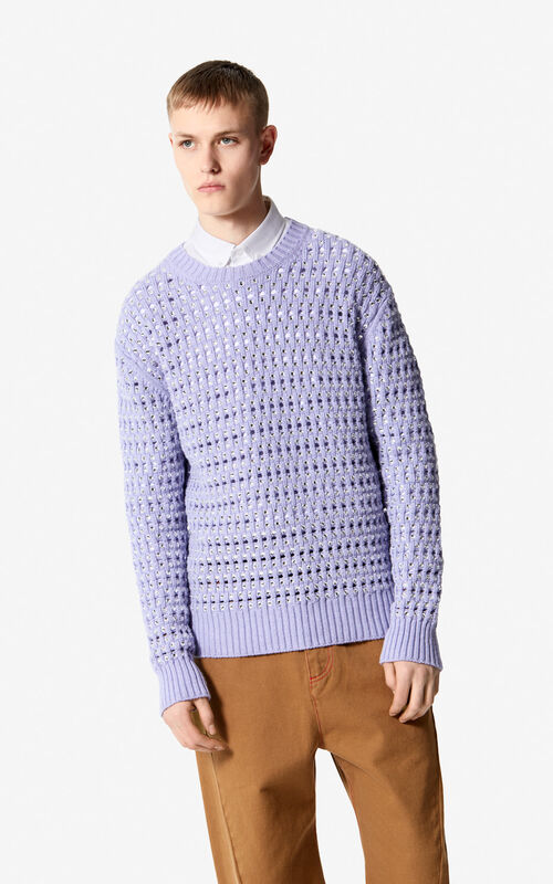 GLACIER Embroidered pearl jumper for men KENZO