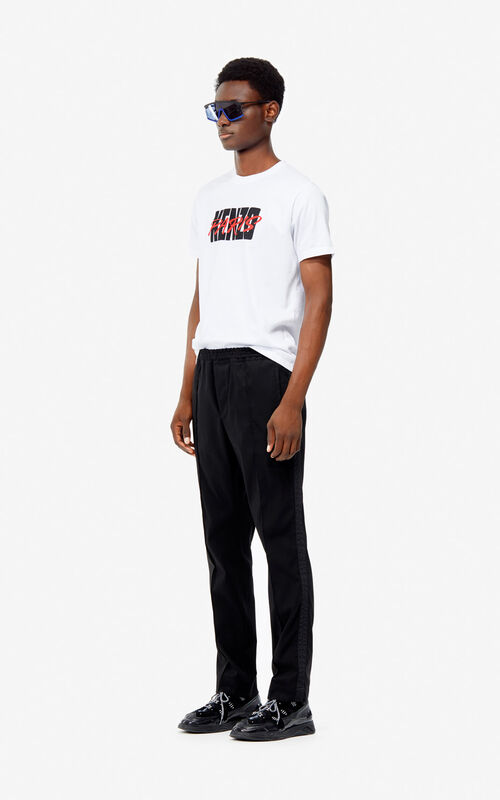 fe2c0adf05be BLACK Twill trousers for men KENZO ...