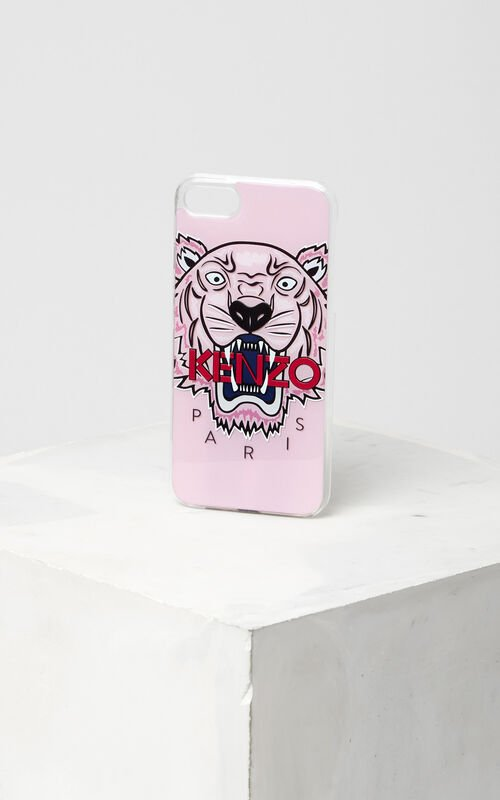 3D Tiger iPhone 7 case, FADED PINK, KENZO