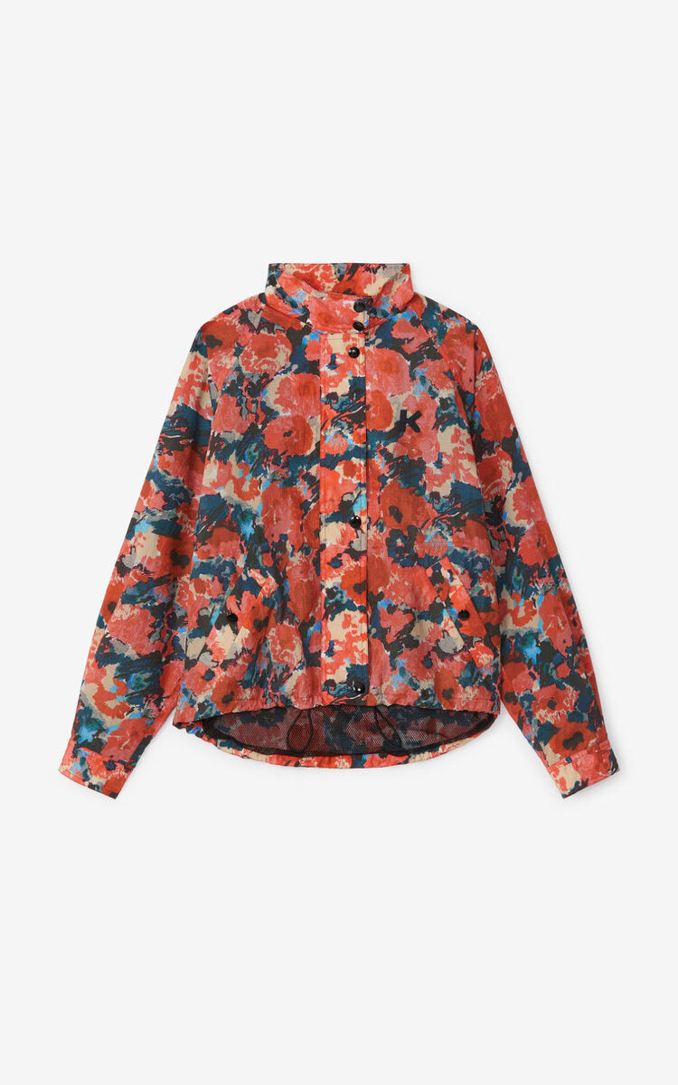 MEDIUM ORANGE 'Aquarelle' windbreaker for women KENZO