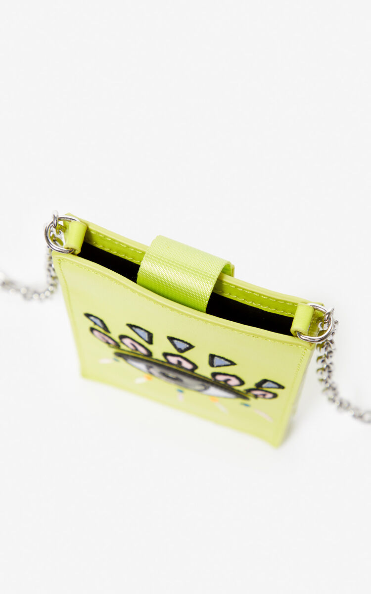 LEMON Eye leather phone case with chain for unisex KENZO