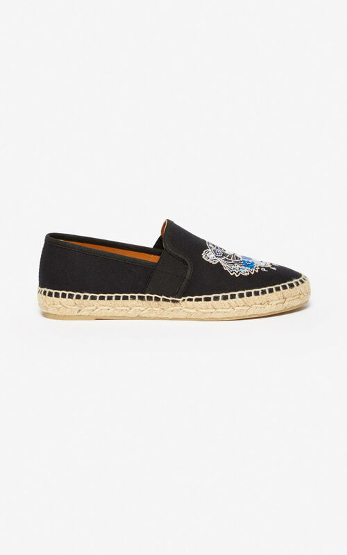 BLACK Elasticated Tiger espadrilles   for women KENZO