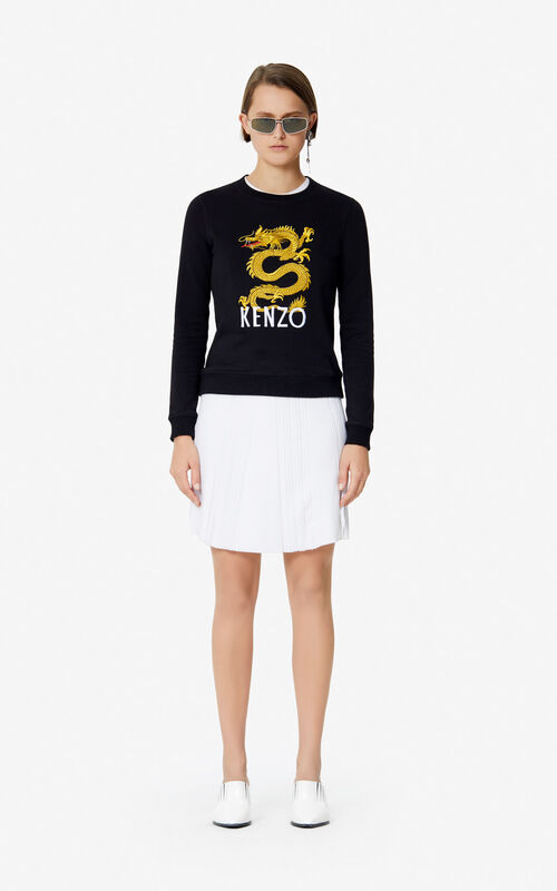 BLACK 'Dragon' Sweatshirt for women KENZO
